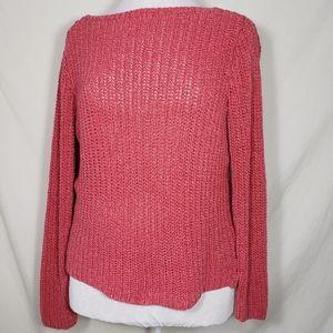 Ralph Lauren Coral Loose Knit Sweater
